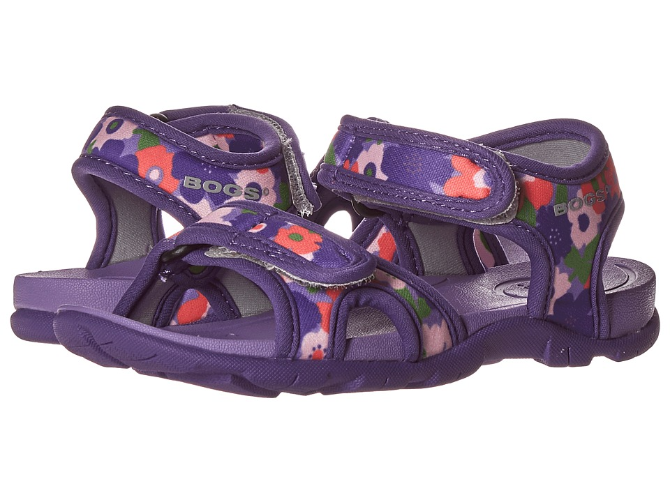 Bogs Kids - Whitefish Spring Flowers (Toddler/Little Kid) (Violet Multi) Girls Shoes