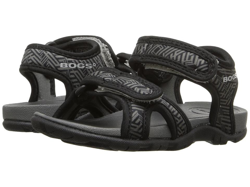 Bogs Kids Whitefish Shatter (Toddler) (Black Multi) Boys Shoes