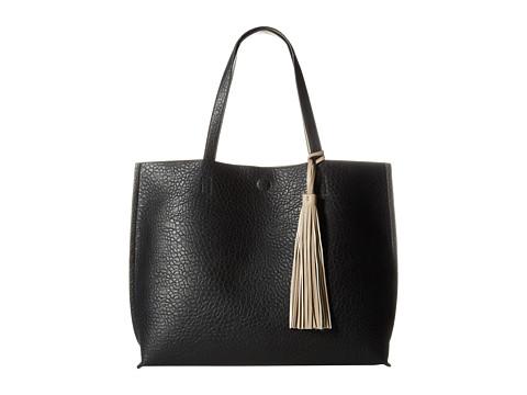 CARLOS by Carlos Santana - Leslie Reversible Tote (Black/Taupe) Tote Handbags