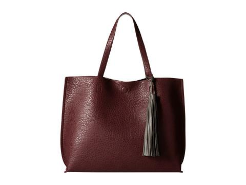CARLOS by Carlos Santana - Leslie Reversible Tote (Plum/Grey) Tote Handbags