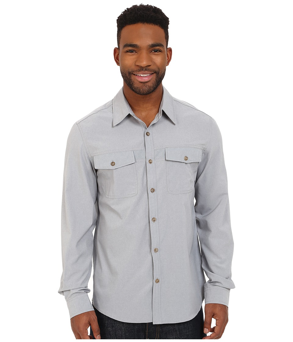 Royal Robbins - Diablo Long Sleeve Shirt (Light Pewter) Men's Long Sleeve Button Up