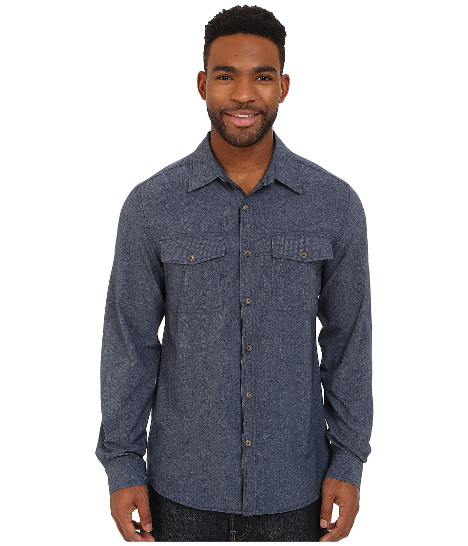 Royal Robbins - Diablo Long Sleeve Shirt (Deep Blue) Men's Long Sleeve Button Up