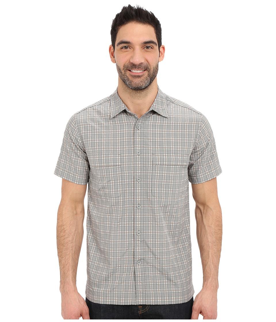 Royal Robbins - Diablo Plaid Short Sleeve Shirt (Light Pewter) Men's Short Sleeve Button Up