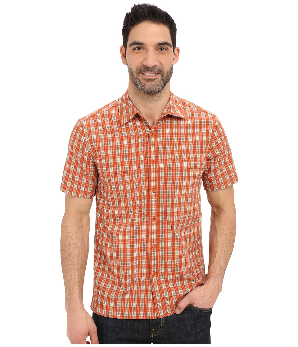Royal Robbins - Diablo Plaid Short Sleeve Shirt (Salsa) Men's Short Sleeve Button Up