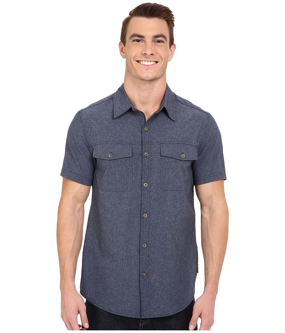 Royal Robbins - Diablo Short Sleeve Shirt (Deep Blue) Men's Short Sleeve Button Up