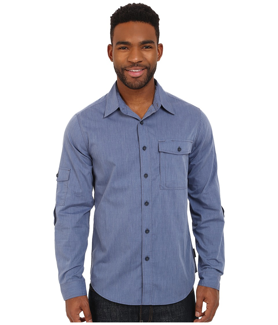 Royal Robbins - Vista Long Sleeve Shirt (Storm Blue) Men's Long Sleeve Button Up
