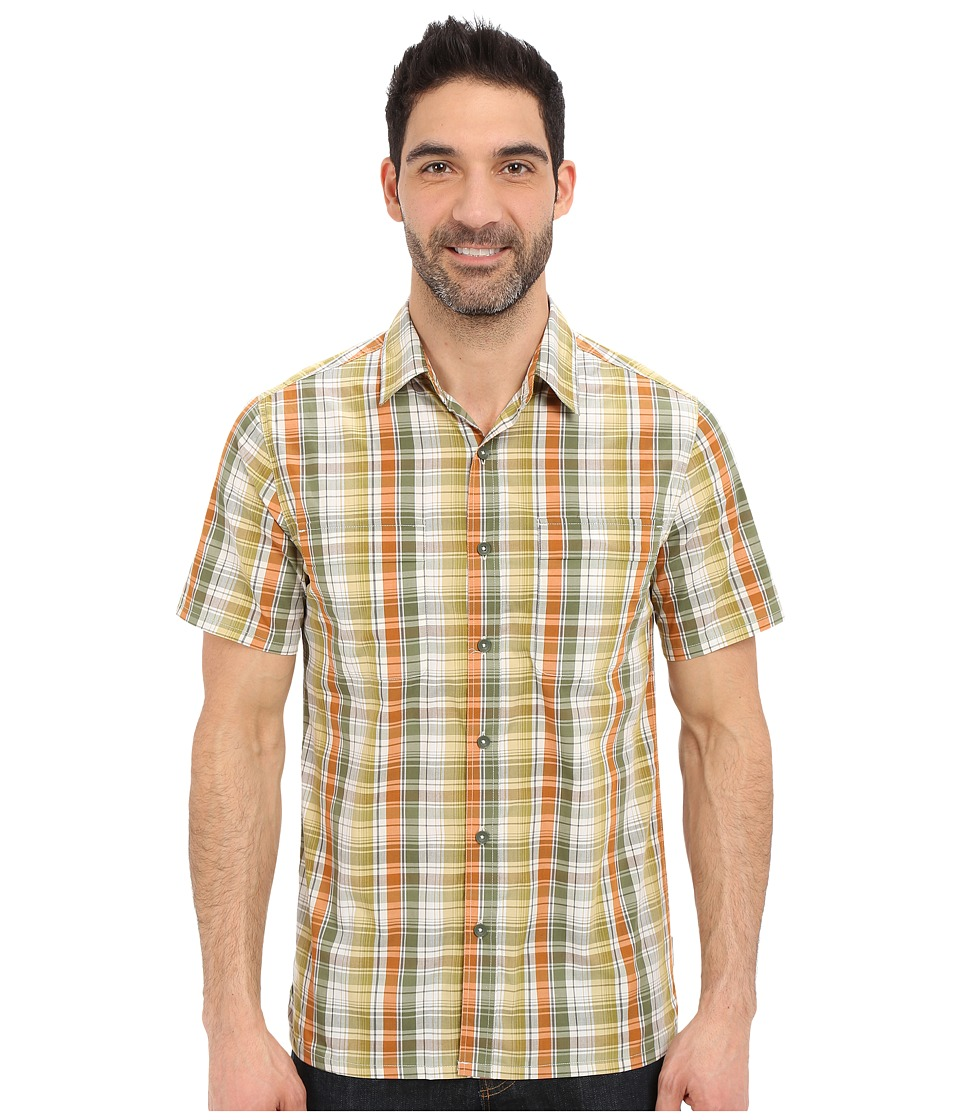 Royal Robbins - Playa Plaid Short Sleeve Shirt (Lichen) Men's Short Sleeve Button Up