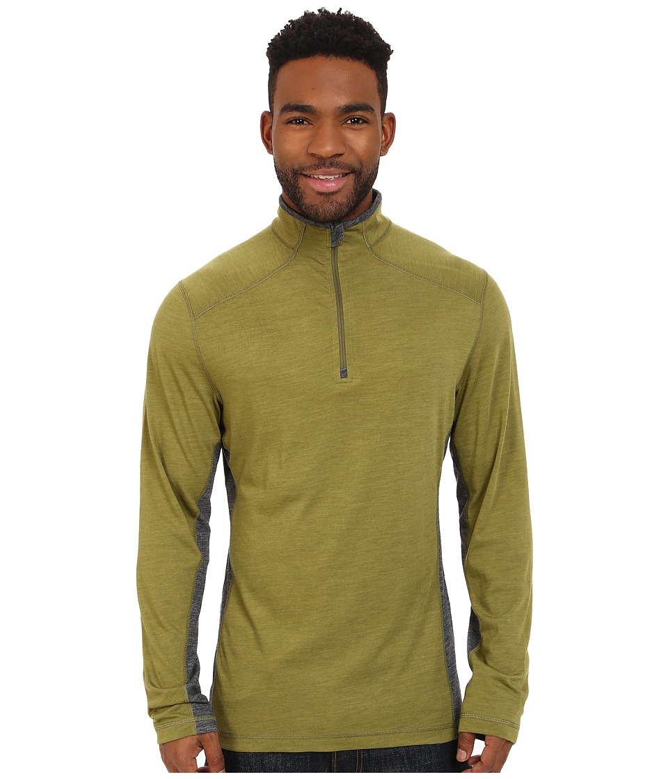 Royal Robbins - Go Everywhere 1/4 Zip Shirt (Spanish Moss) Men's Long Sleeve Pullover