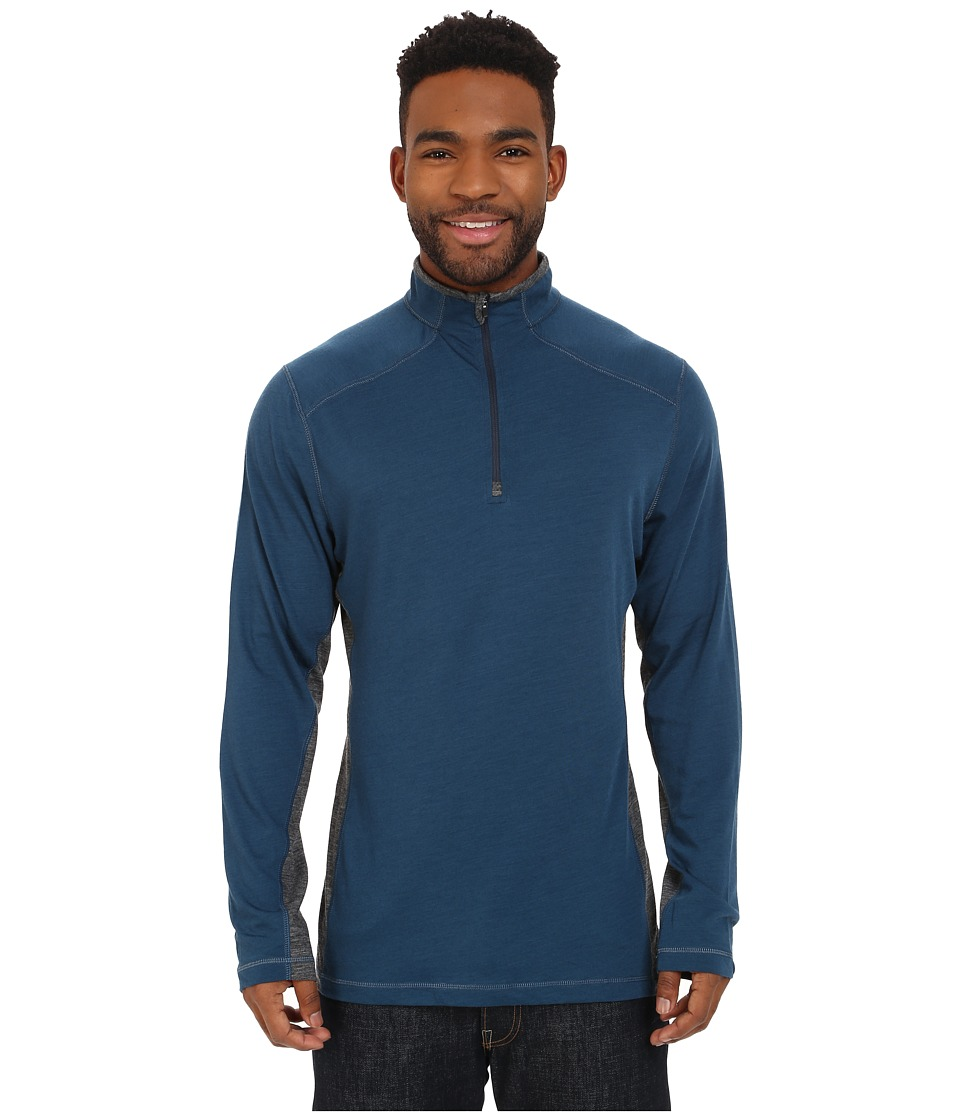 Royal Robbins - Go Everywhere 1/4 Zip Shirt (Phoenix Blue) Men's Long Sleeve Pullover