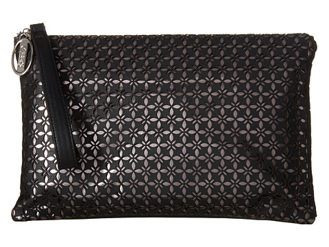 CARLOS by Carlos Santana - Samantha Large Clutch (Black) Clutch Handbags