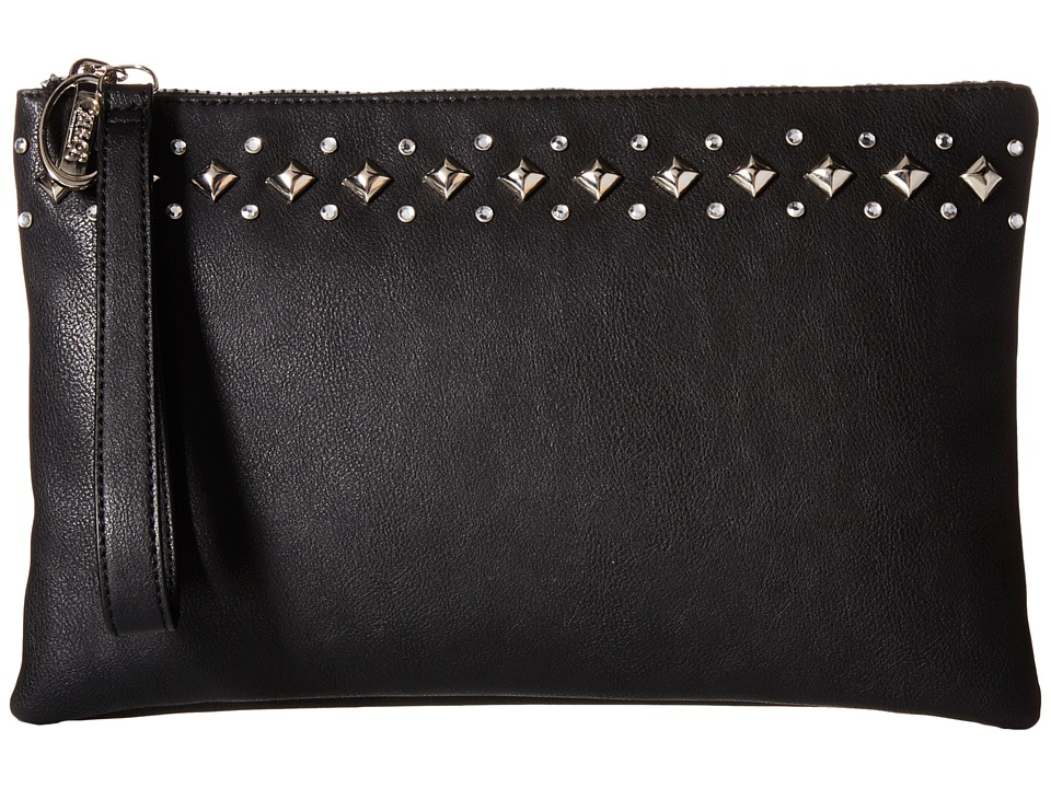 CARLOS by Carlos Santana - Jewel Large Clutch (Black) Clutch Handbags