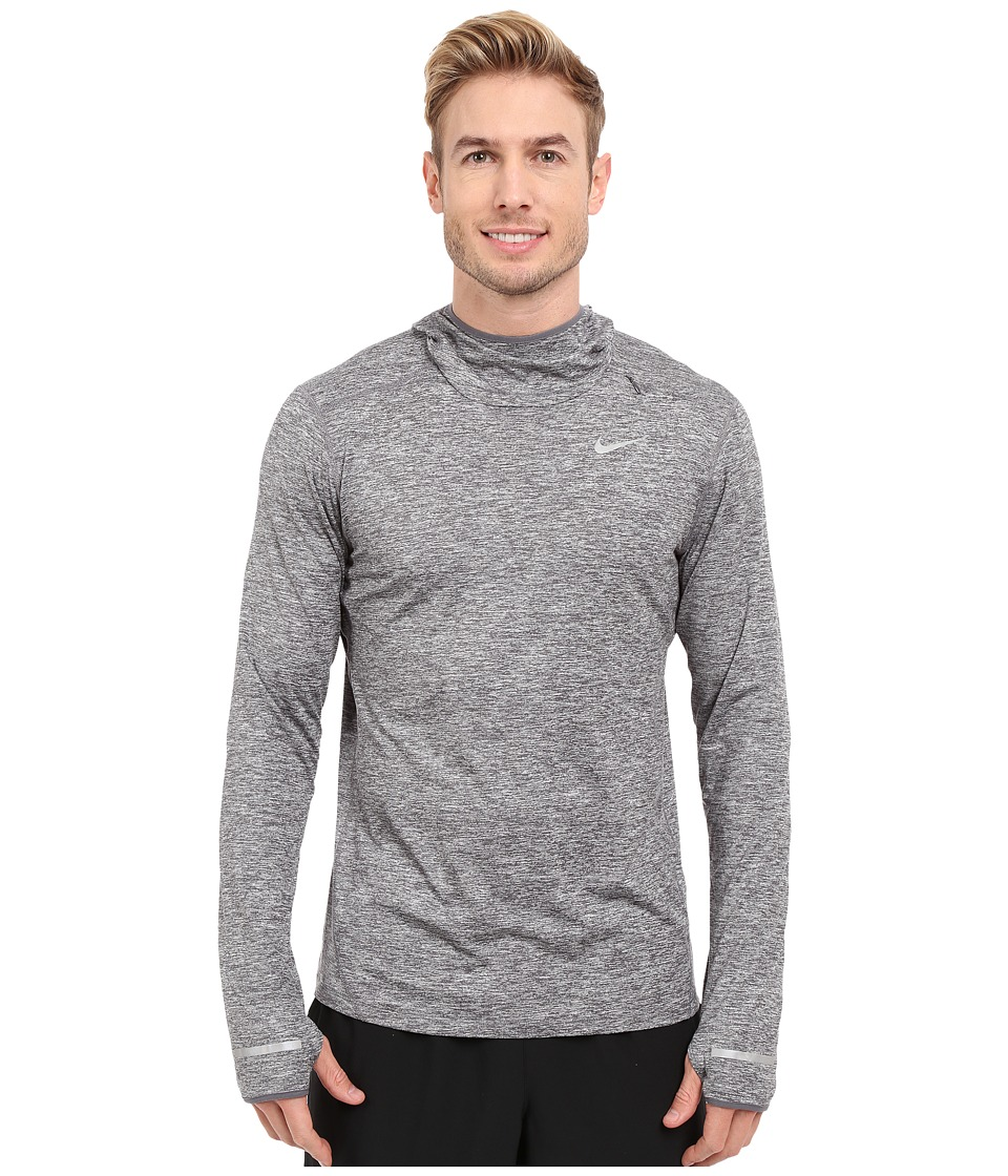 Nike - Dry Element Running Hoodie (Dark Grey Heather/Reflective Silver) Men's Sweatshirt
