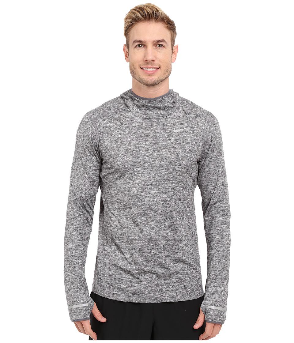 Nike - Dry Element Running Hoodie (Dark Grey Heather/Reflective Silver) Men's Sweatshirt