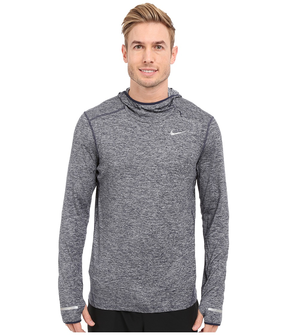 Nike - Dry Element Running Hoodie (Obsidian/Reflective Silver) Men's Sweatshirt