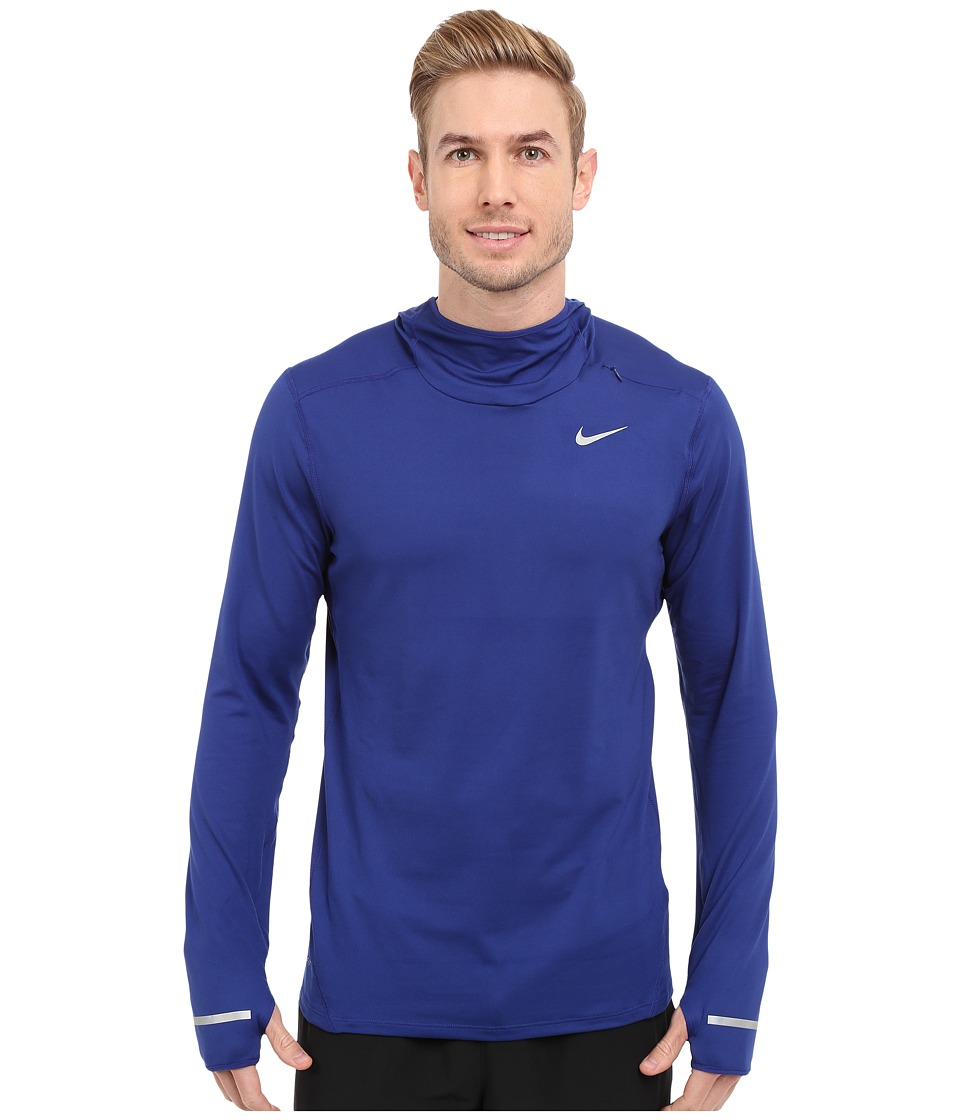 Nike - Dry Element Running Hoodie (Deep Royal Blue/Reflective Silver) Men's Sweatshirt