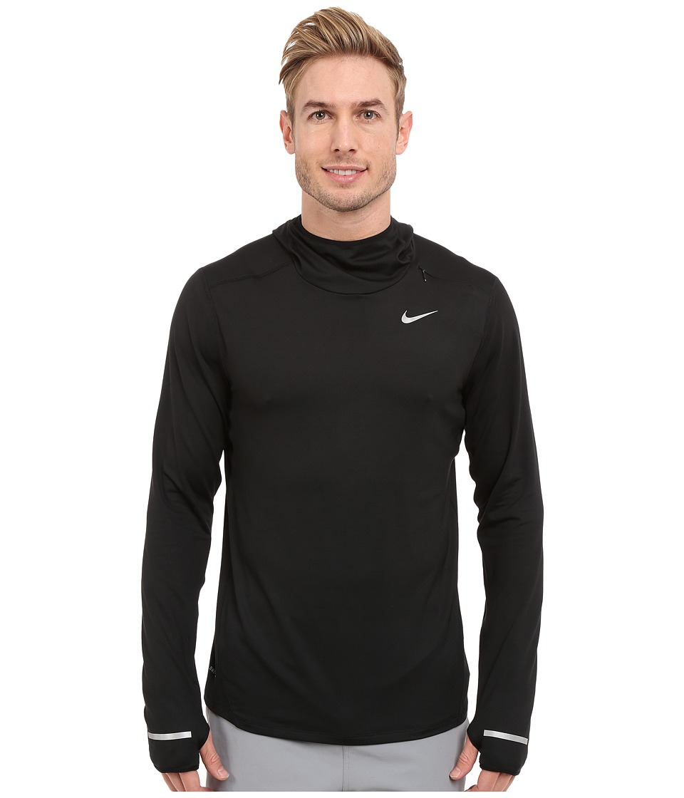 Nike - Dry Element Running Hoodie (Black/Reflective Silver) Men's Sweatshirt
