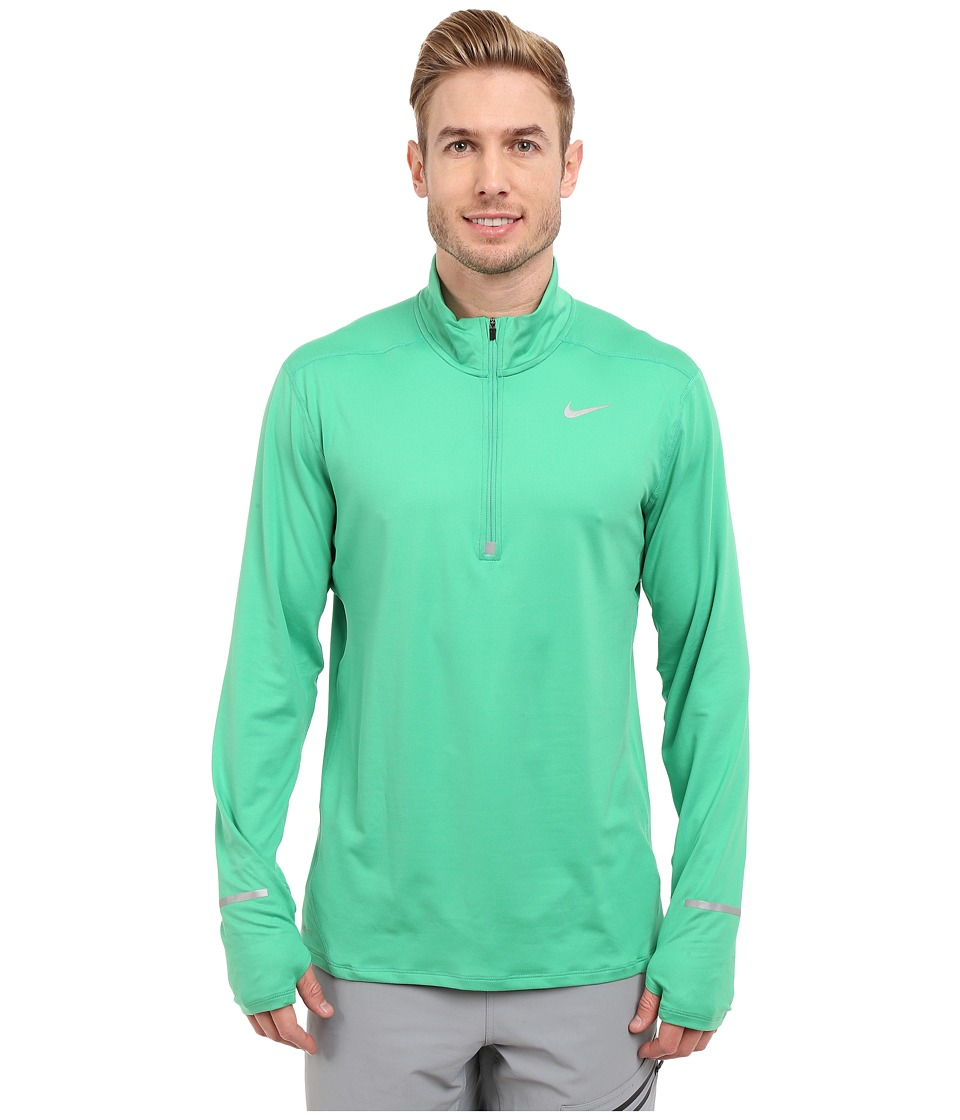 Nike - Dry Element Long Sleeve Running Top (Spring Leaf/Reflective Silver) Men's Long Sleeve Pullover