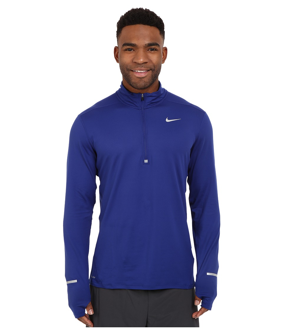 Nike - Dry Element Long Sleeve Running Top (Deep Royal Blue/Reflective Silver) Men's Long Sleeve Pullover