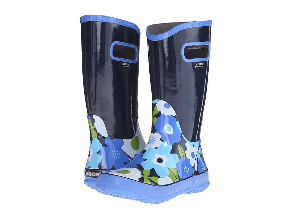 Bogs Kids - Rain Boot Spring Flowers (Toddler/Little Kid/Big Kid) (Navy Multi) Girls Shoes
