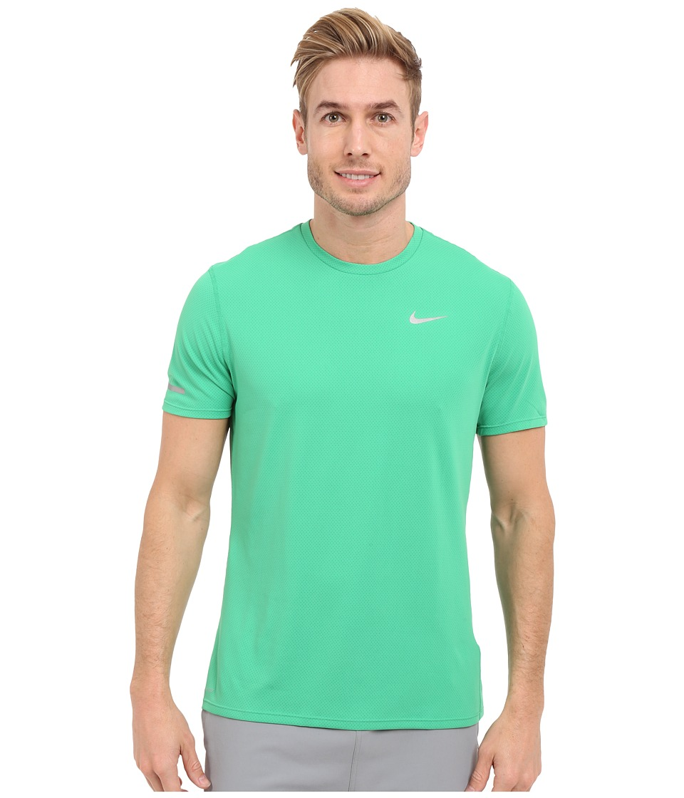 Nike Dri-FIT Contour S/S Running Shirt (Spring Leaf/Reflective Silver) Men
