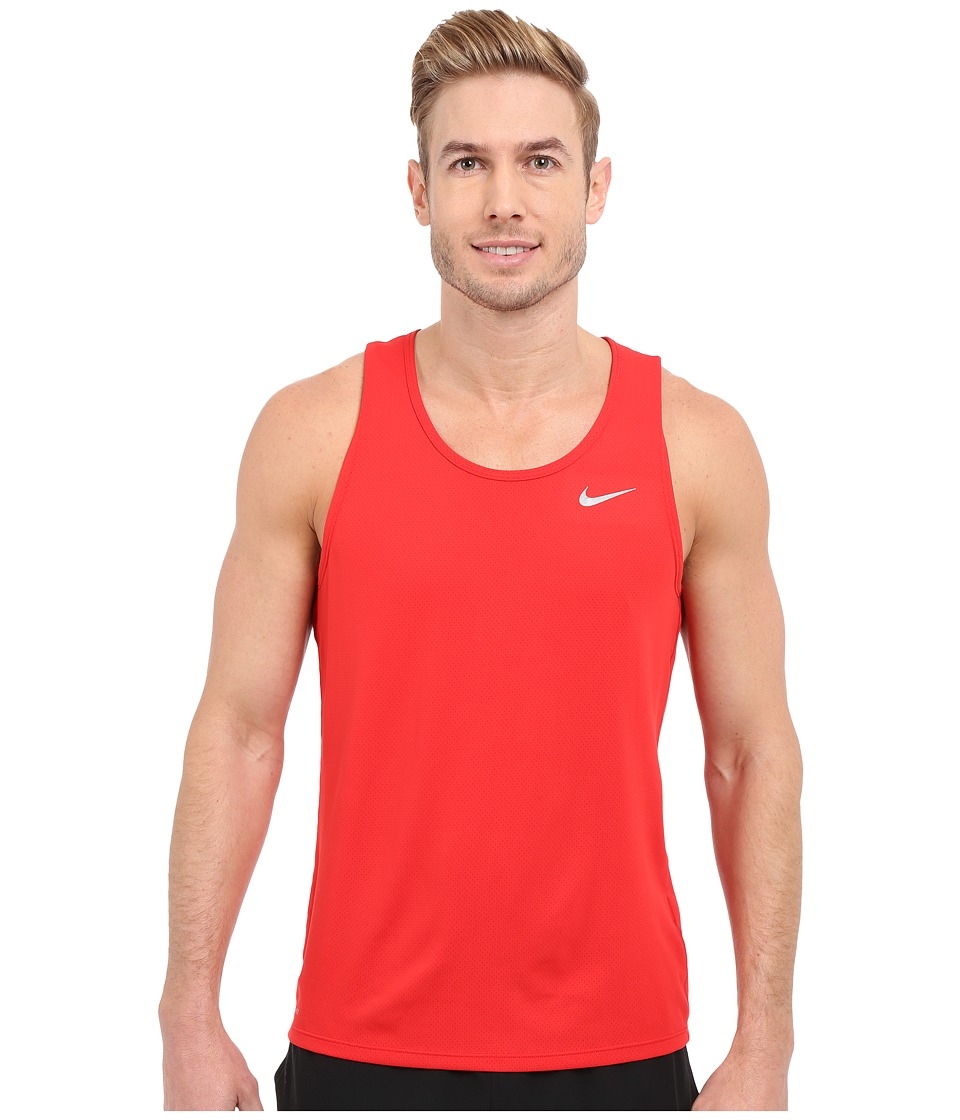 Nike - Dri-FIT Contour Running Singlet (University Red/Reflective Silver) Men's Workout