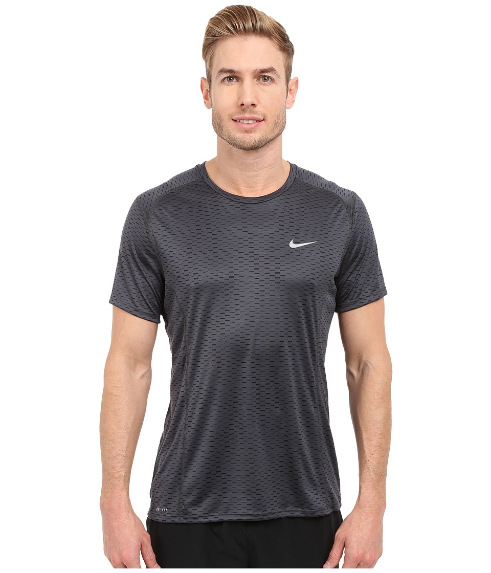 Nike - Dri-FIT Miler Fuse Running Shirt (Anthracite/Reflective Silver) Men's Short Sleeve Pullover
