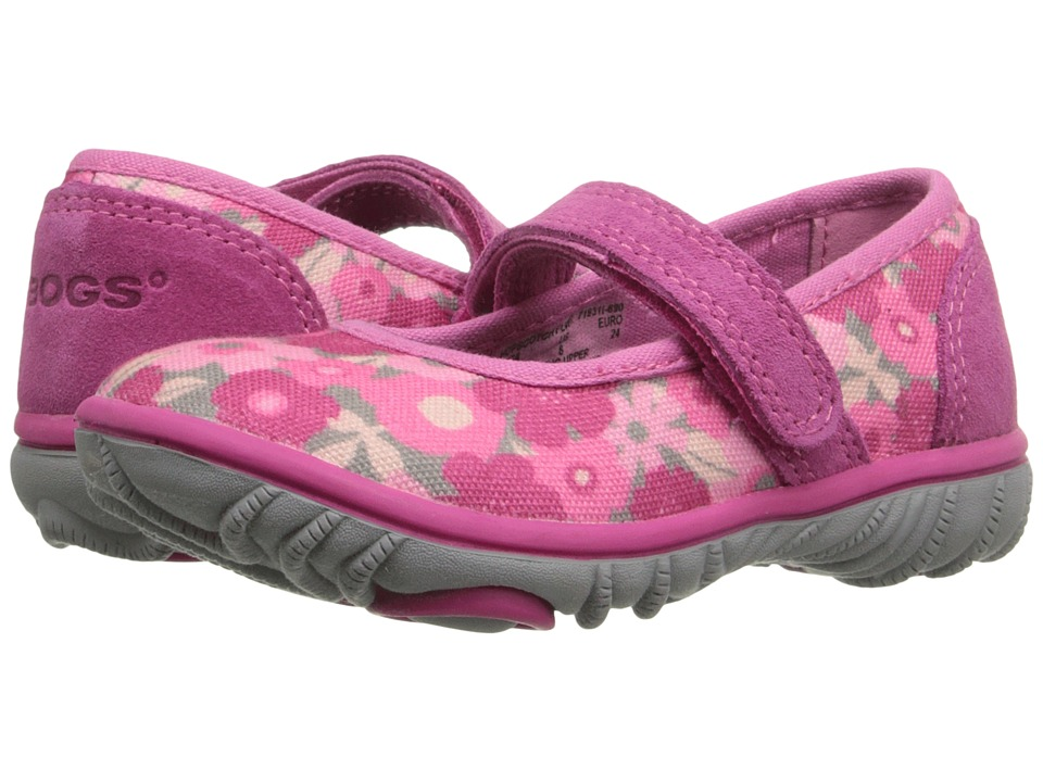Bogs Kids - Hopscoth Mary Jane Spring Flowers (Toddler) (Pink Multi) Girls Shoes