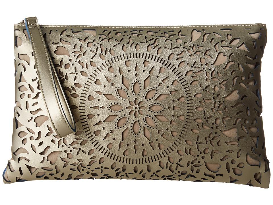 CARLOS by Carlos Santana - Kailee Large Clutch (Champagne) Clutch Handbags