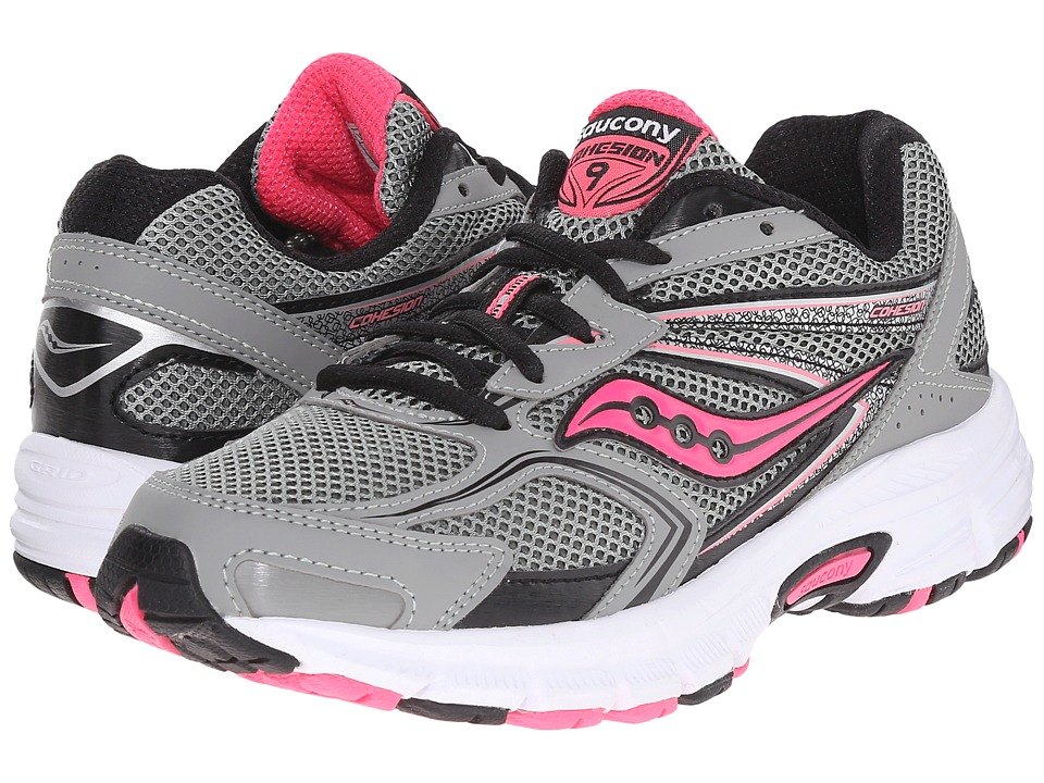 Saucony - Cohesion 9 (Grey/Black/Pink) Women's Running Shoes