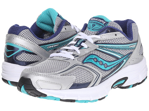 Saucony - Cohesion 9 (Silver/Navy/Teal) Women's Running Shoes