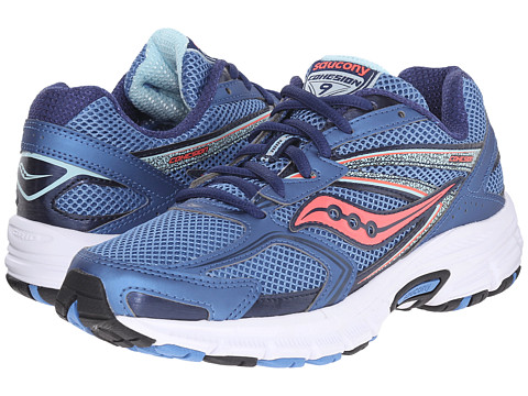 Saucony - Cohesion 9 (Blue/Light Blue/Coral) Women's Running Shoes
