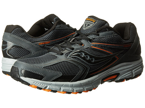Saucony - Cohesion TR9 (Grey/Black/Orange) Men's Running Shoes