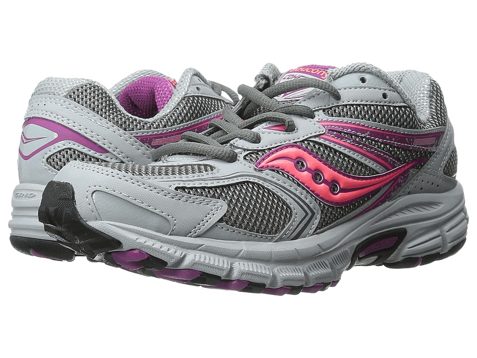 Saucony - Cohesion TR9 (Grey/Berry/Coral) Women's Running Shoes