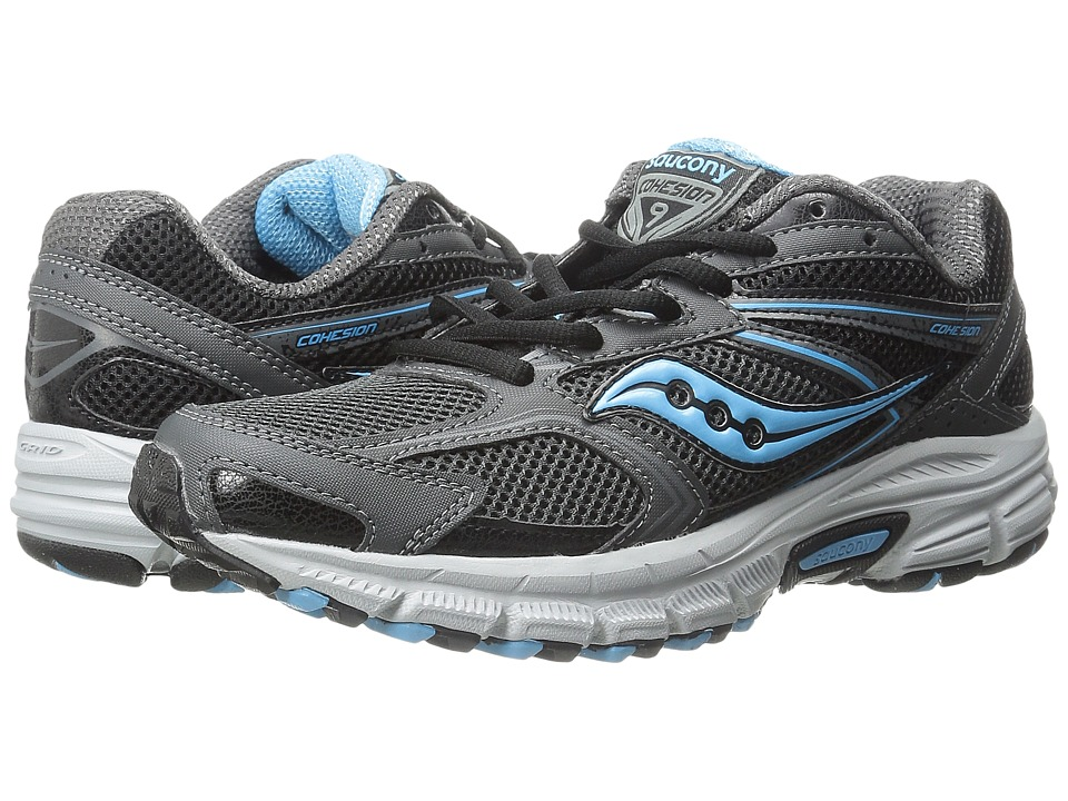 Saucony - Cohesion TR9 (Grey/Black/Aqua) Women's Running Shoes