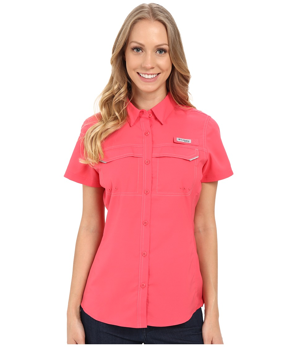 Columbia - Lo Drag Short Sleeve Shirt (Bright Geranium) Women's Short Sleeve Button Up