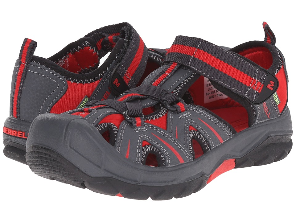 Merrell Kids - Hydro (Big Kid) (Grey/Red) Boys Shoes