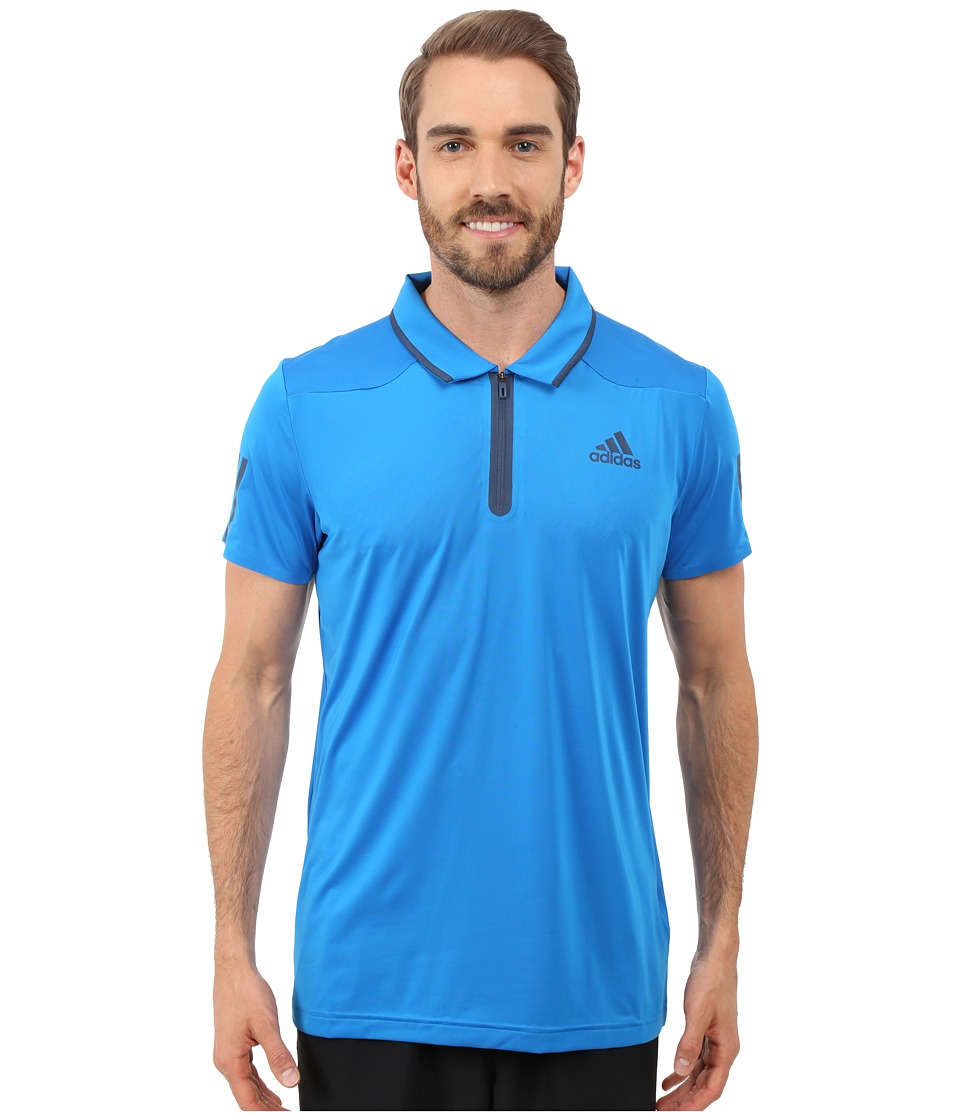 adidas - Barricade Polo Shirt (Shock Blue/Mineral Blue) Men's Short Sleeve Knit
