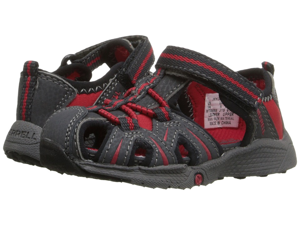 Merrell Kids - Hydro Junior (Toddler) (Grey/Red) Boys Shoes