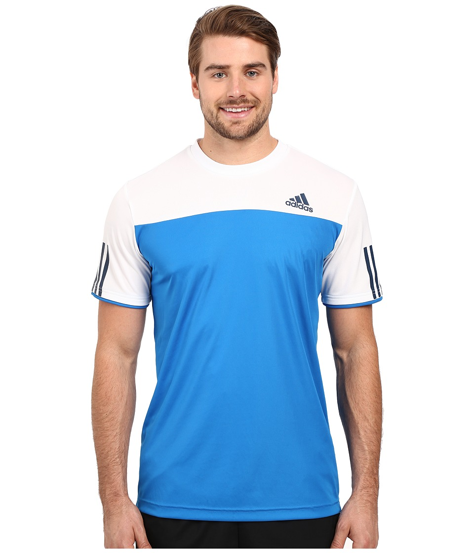 adidas - Club Tee (Shock Blue/White) Men's T Shirt