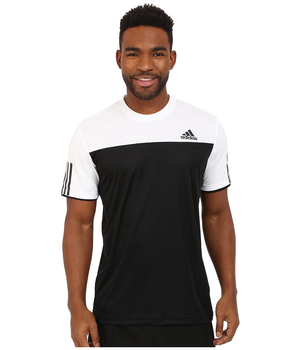adidas - Club Tee (Black/White) Men's T Shirt