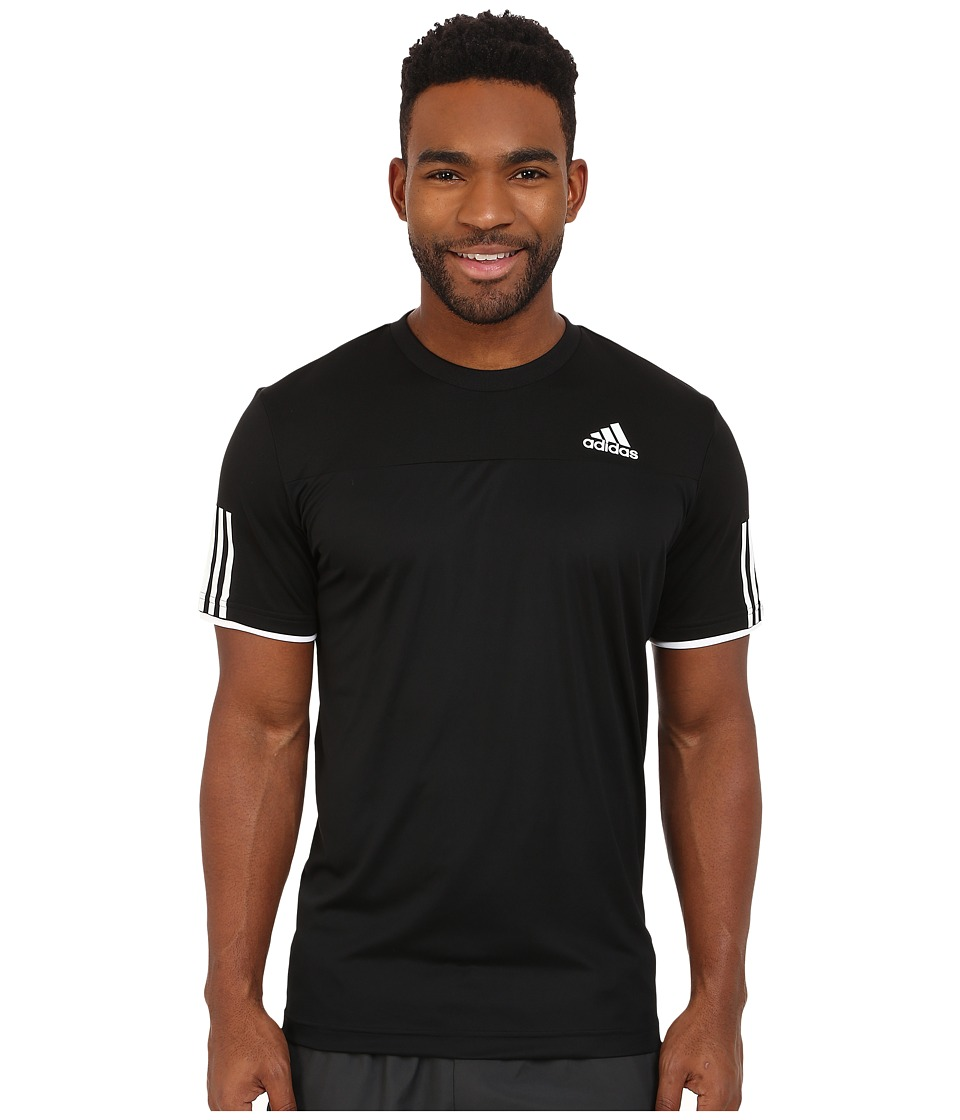 adidas - Club Tee (Black/Black/White) Men's T Shirt