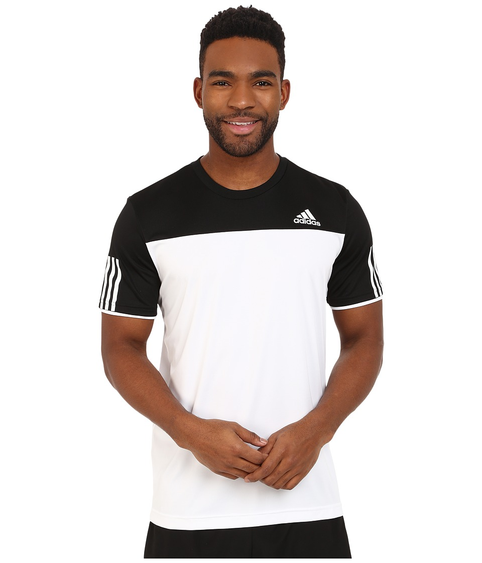 adidas - Club Tee (White/Black) Men's T Shirt