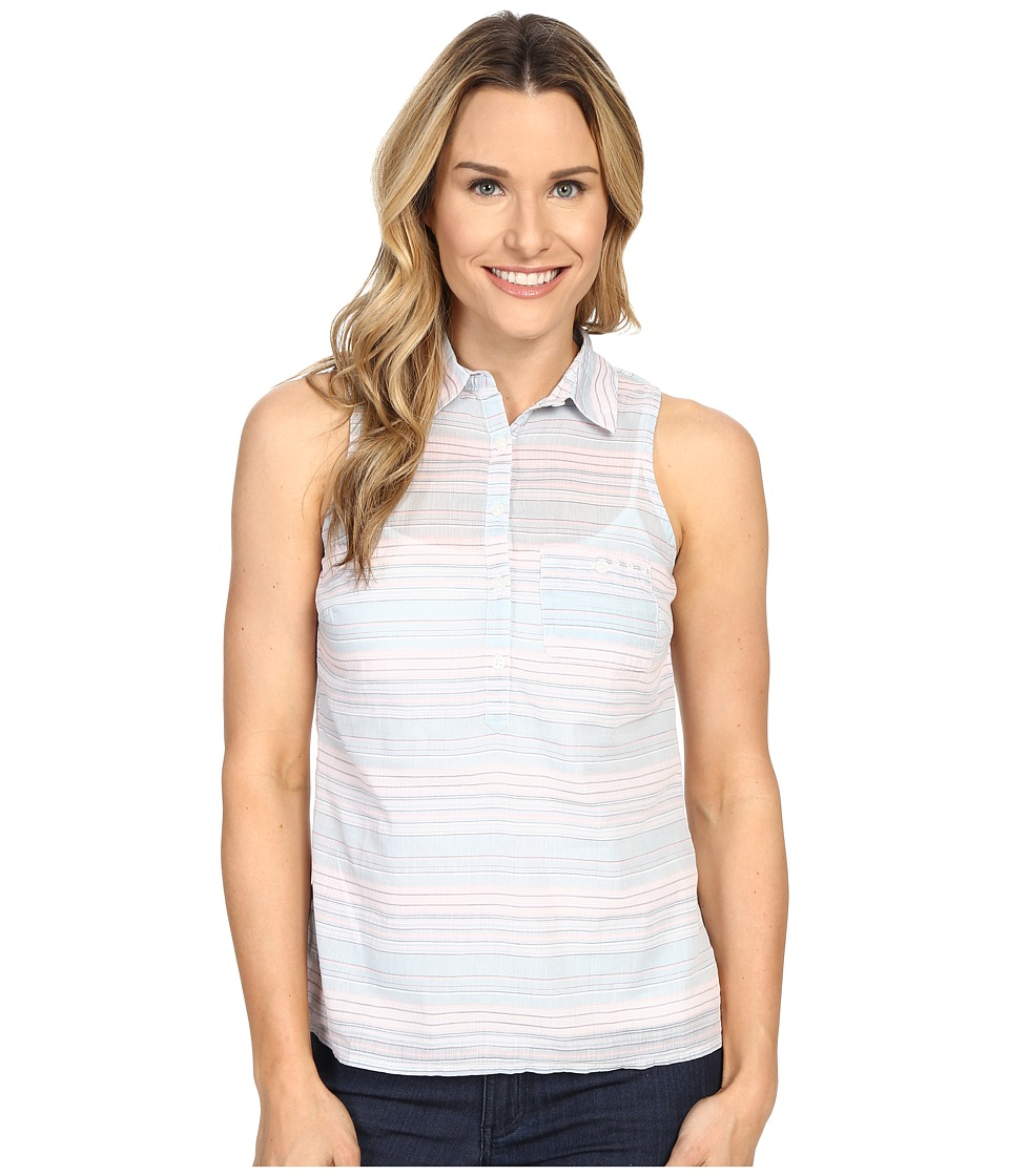 Columbia - Sun Drifter Sleeveless Shirt (Stone Blue Stripe) Women's Sleeveless