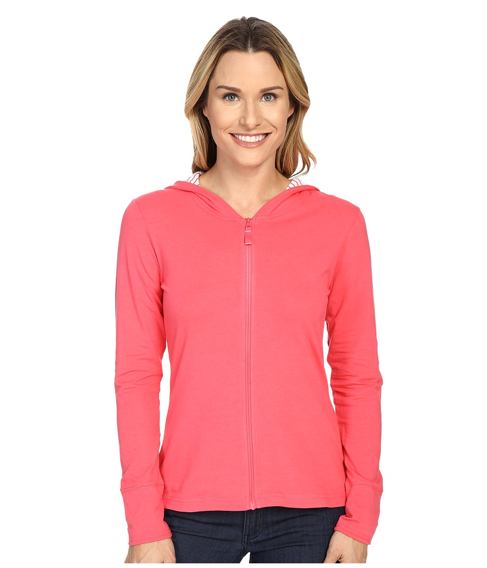 Columbia - Reel Beautytm Hoodie (Bright Geranium/Mini Stripe) Women's Sweatshirt