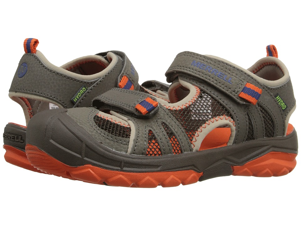 Merrell Kids - Hydro Rapid (Toddler/Little Kid/Big Kid) (Gunsmoke/Orange) Boys Shoes