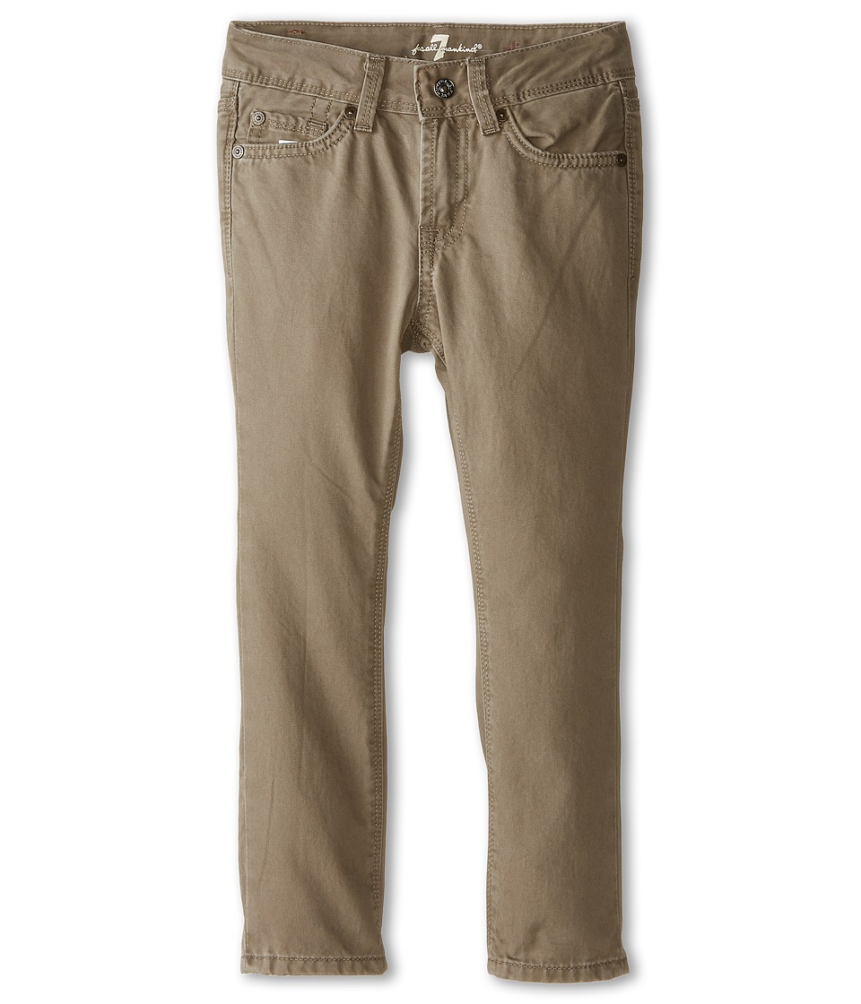 7 For All Mankind Kids - Slimmy Slim Straight Twill Jeans in Drift Wood (Little Kids/Big Kids) (Drift Wood) Boy's Jeans