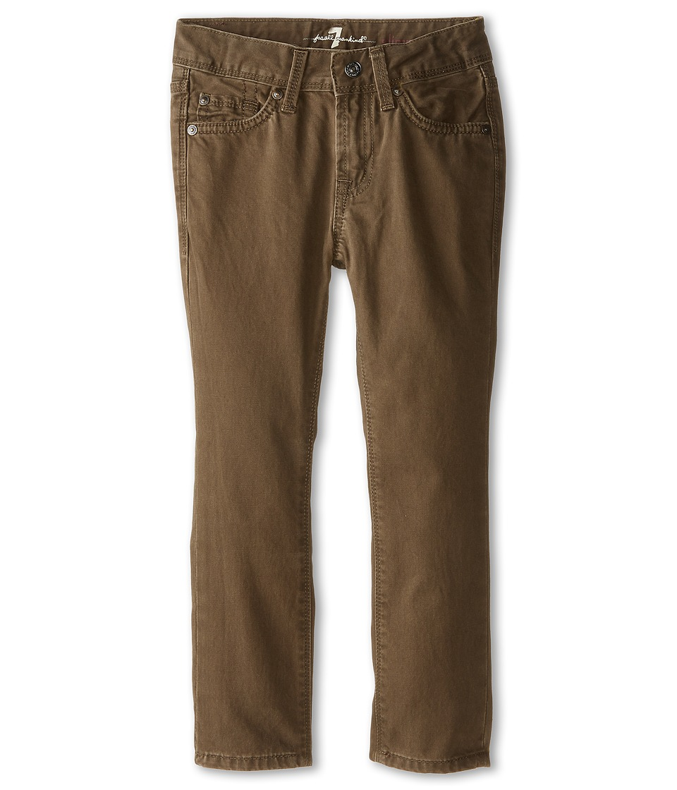 7 For All Mankind Kids - Slimmy Slim Straight Twill Jeans in Twig Green (Little Kids/Big Kids) (Twig Green) Boy