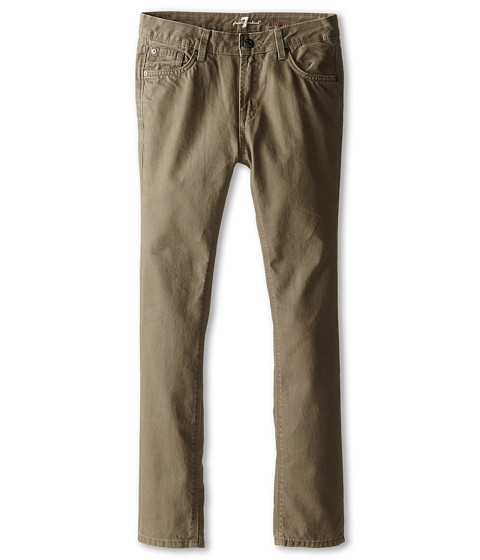 7 For All Mankind Kids - Slimmy Slim Straight Twill Jeans in Drift Wood (Big Kids) (Drift Wood) Boy