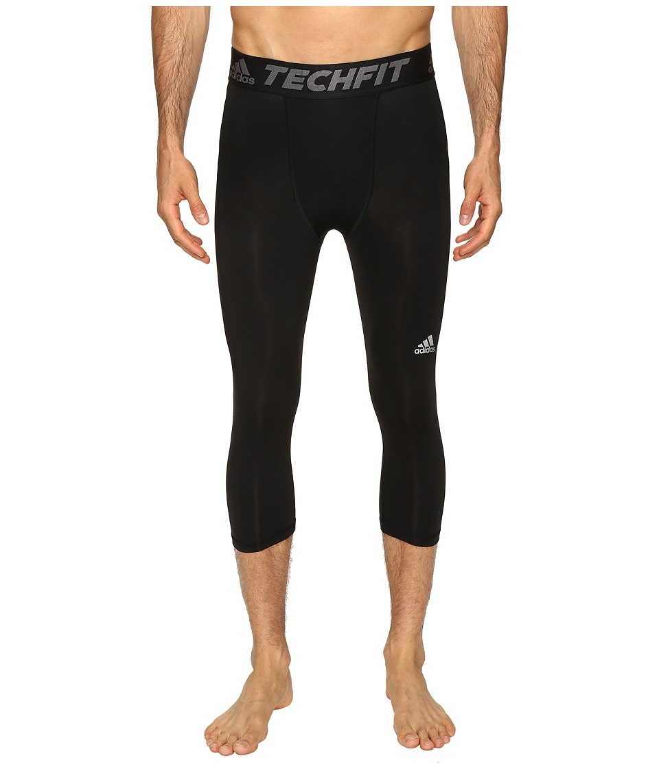 adidas - Techfit Compression 3/4 Tights (Black) Men's Workout