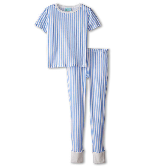 BedHead Kids - Short Sleeve Tween Snug PJ (Big Kids) (Blue 3D Stripe) Boy